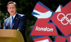David Cameron in Downing Street garden