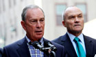 Mayor Bloomberg and Ray Kelly at press conference