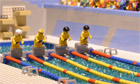 Brick-by-brick swimming