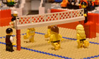 Brick-by-brick: beach volleyball