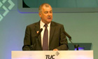 Brendan Barber speaks at TUC conference