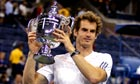 Andy Murray holds US Open trophy
