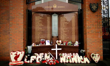 Hillsborough memorial covered with tributes