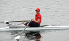 Kate Lundy rows in Team GB kit