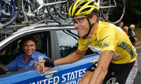 Lance Armstrong and Johan Bruyneel in 2003
