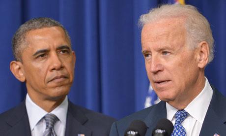 Obama and Biden, guns