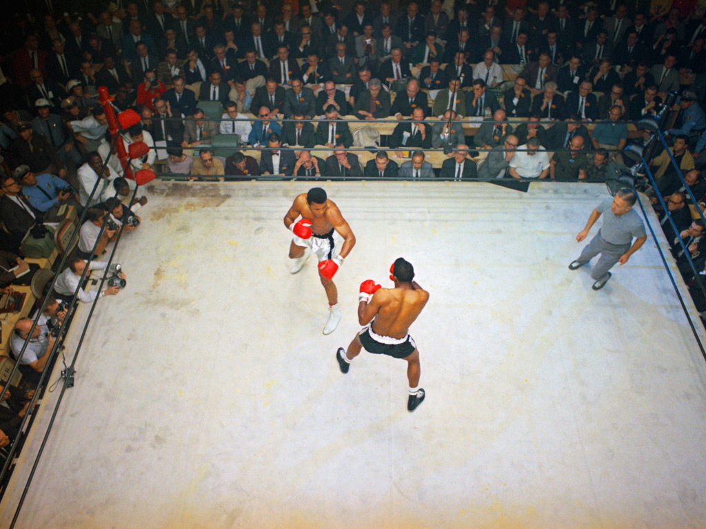 Cassius Clay Boxing Against Floyd Patterson