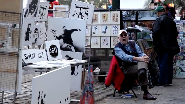 Banksy sells original works worth a fortune for £38 each in New York booth