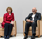 Catherine Ashton with Mohammad Javad Zarif
