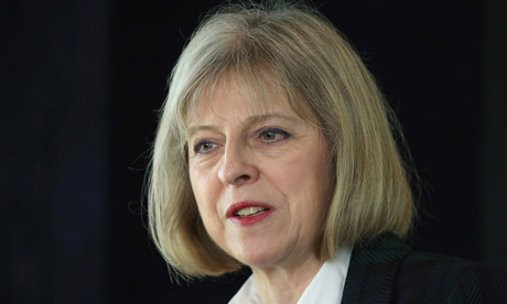 Home secretary Theresa May announces a bill on modern slavery
