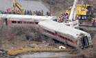 Train derailment in New York