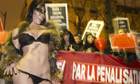 French sex worker at demo