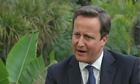 David Cameron speaking in India on Tuesday