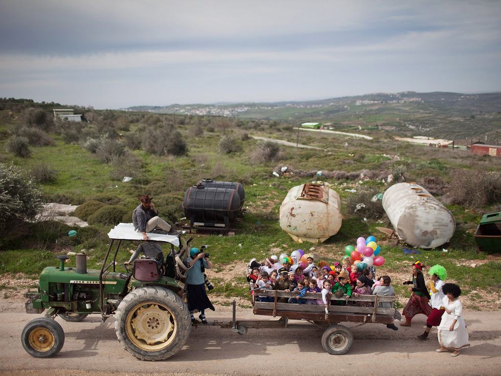 West Bank Settlers Celebrate Purim