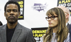 Chris Rock and Amanda Peet at anti-gun conference