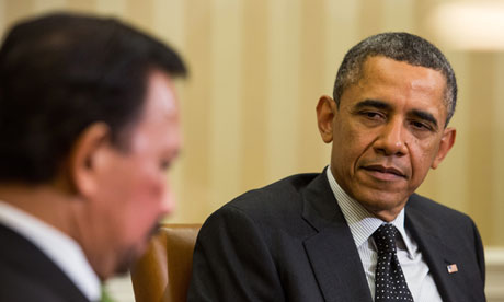 Barack Obama with the sultan of Brunei