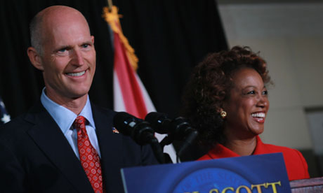 Jennifer Carroll with Florida governor Rick Scott