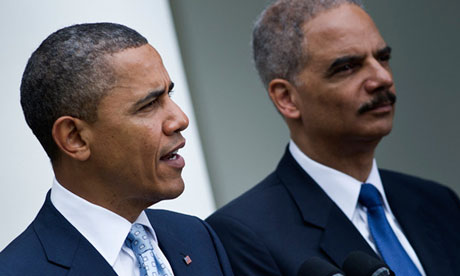 Barack Obama and Eric Holder national security