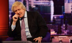 Boris Johnson being interviewed by Eddie Mair on the Andrew Marr Show
