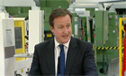 David Cameron speaking in West Yorkshire on the economy