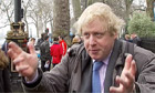 Boris Johnson revealing £913m London cycling plan