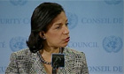 Susan Rice speaking about North Korea's threat of a pre-emptive nuclear strike