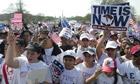 Immigration protest, Washington