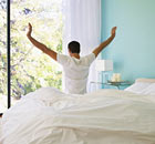 Tena: Man Waking Up in Bed