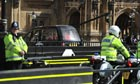 Police presence as Thatcher's body arrives at Westminster