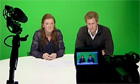 Prince Harry sits in front of green screen to read news