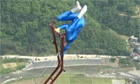 Acrobat perform stunts in China