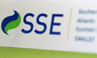 SSE logo on computer screen