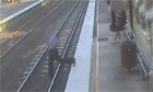 man fell onto railway tracks
