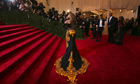 Singer Beyonce at the Metropolitan Museum of Art Costume Institute Benefit