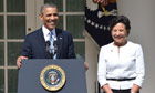 Obama with Penny Pritzker at the White House