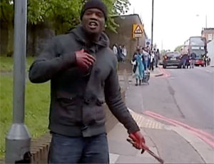 Woolwich: suspect believed to be involved in attack - video