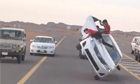 'Sidewalk skiing' in Saudi Arabia