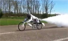 Rocket propelled mountain bike beats land speed record