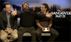 Ed Helms, Zach Galifianakis and Bradley Cooper talking about The Hangover Part III