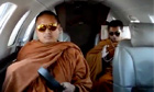 Thai Buddhist monks ride private jet