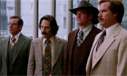 Steve Carell, Paul Rudd, David Koechner and Will Ferrell in a still from Anchorman 2