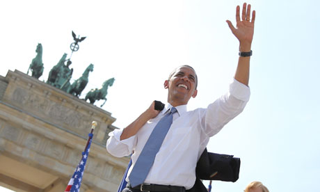 Obama at the Brandenberg Gate