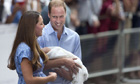 Prince William, Catherine, Duchess of Cambridge show their new-born baby boy to the world's media