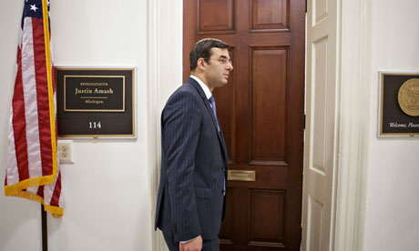 Justin Amash has added his voice to the chorus of criticism over the NSA's bulk collection of metadata. Photograph: J Scott Applewhite/AP