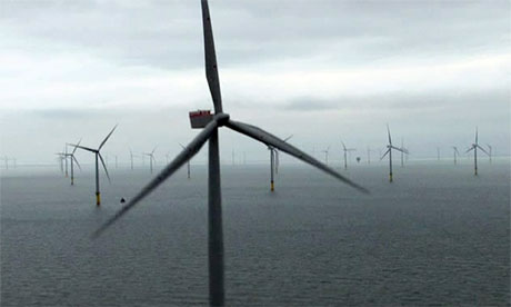 David Cameron opens world's largest offshore windfarm in the Thames Estuary - video