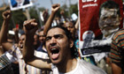 An Egyptian supporter of the Muslim Brot