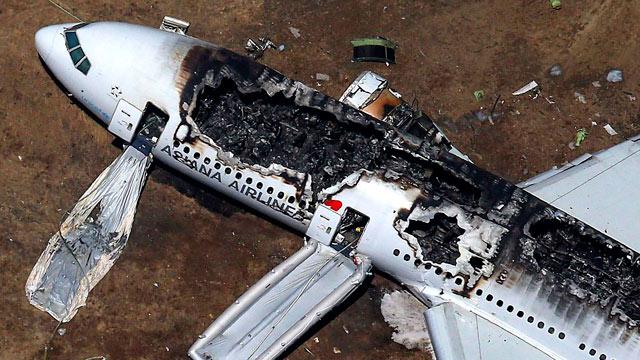 San Francisco plane crash - video