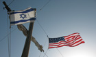 Israeli and American flags