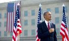 Barack Obama at 9/11 memorial service in Washington