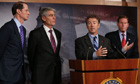 Rand Paul speaks at the unveiling of the NSA reform package